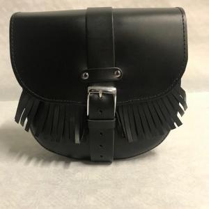 Motortas-set, zwart met franjes, 2x9 L