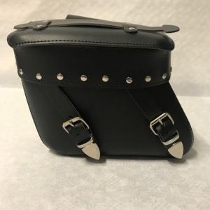 Motortas-set, zwart met siernagels, 2x11L